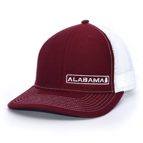Image of Alabama State Hat - Crimson / White - Bucks of America