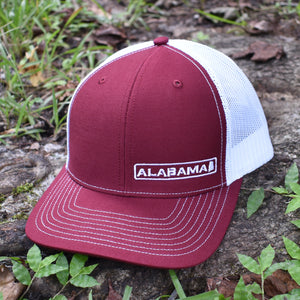 Alabama State Hat - Crimson / White