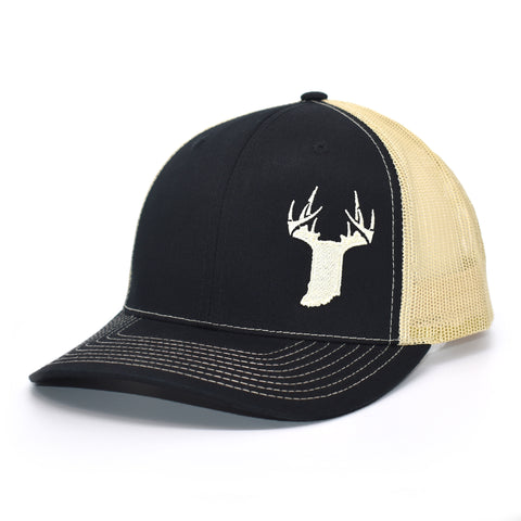 Image of Indiana Gold State Antler Logo Hat - Black / Vegas Gold - Bucks of America