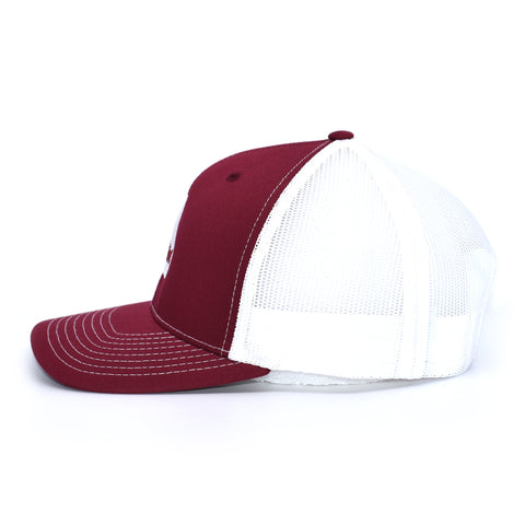 Alabama Carp Fishing Hat - Crimson / White - Bucks of America