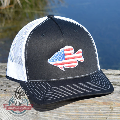 Image of American Flag Crappie Hat - Bucks of America