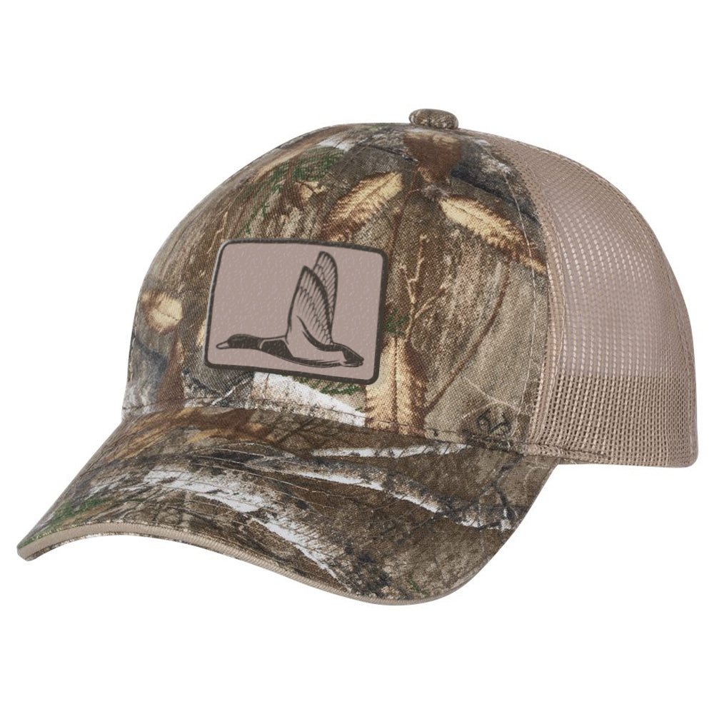 Duck Patch Khaki & Realtree Camo Hat