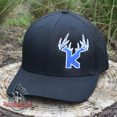 Bucks of Kansas Antler Logo Blue/White Logo Hat - Bucks of America