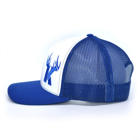 Bucks of Kentucky Antler Logo Hat - White / Royal - Bucks of America