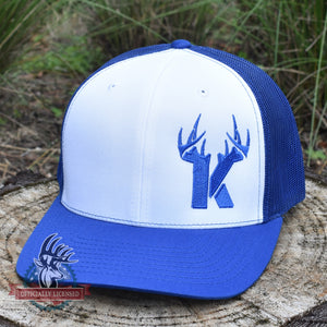 Bucks of Kentucky Antler Logo Hat - White / Royal