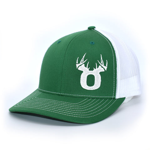 Bucks of Oregon Antler Logo Hat - Kelly Green / White - Bucks of America