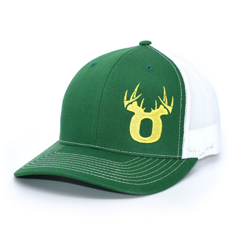 Image of Bucks of Oregon Antler Yellow Logo Hat - Kelly Green / White - Bucks of America