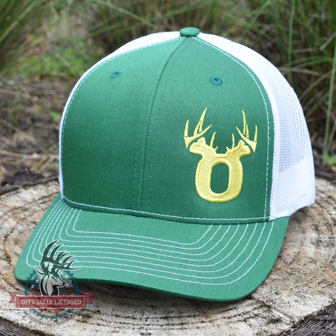 Bucks of Oregon Antler Yellow Logo Hat - Kelly Green / White - Bucks of America
