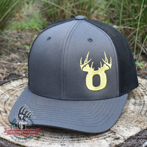 Bucks of Oregon Antler Yellow Logo Hat - Charcoal / Black - Bucks of America