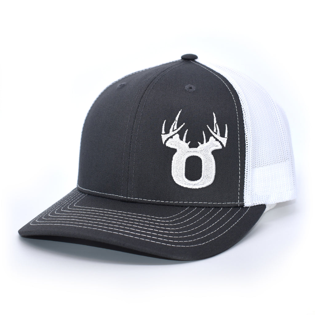Bucks of Oregon Antler Logo Hat - Charcoal / White - Bucks of America