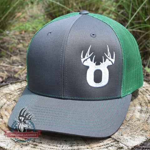 Bucks of Oregon Antler Logo Hat - Charcoal / Kelly - Bucks of America
