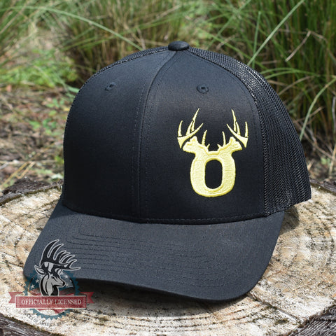 Bucks of Oregon Antler Yellow Logo Hat - Black - Bucks of America