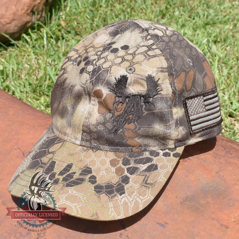 Bulls of Alaska Antler Logo Hat - Highlander Kryptek Camo - Bucks of America