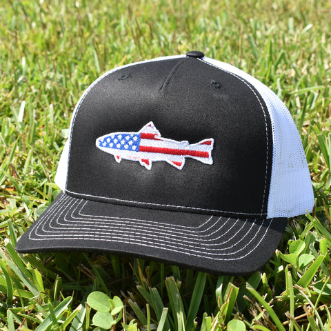 American Flag Trout Hat - Bucks of America