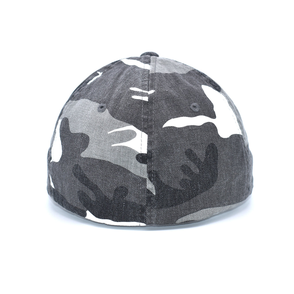 Bucks of Florida F Orange Logo on Camo Fitted - Bucks of America