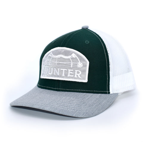 Image of Bow Hunter- Dark Green / White / Grey - Bucks of America