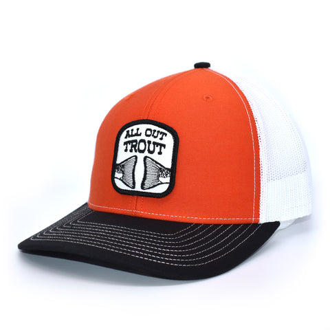 Orange All Out Trout Hat