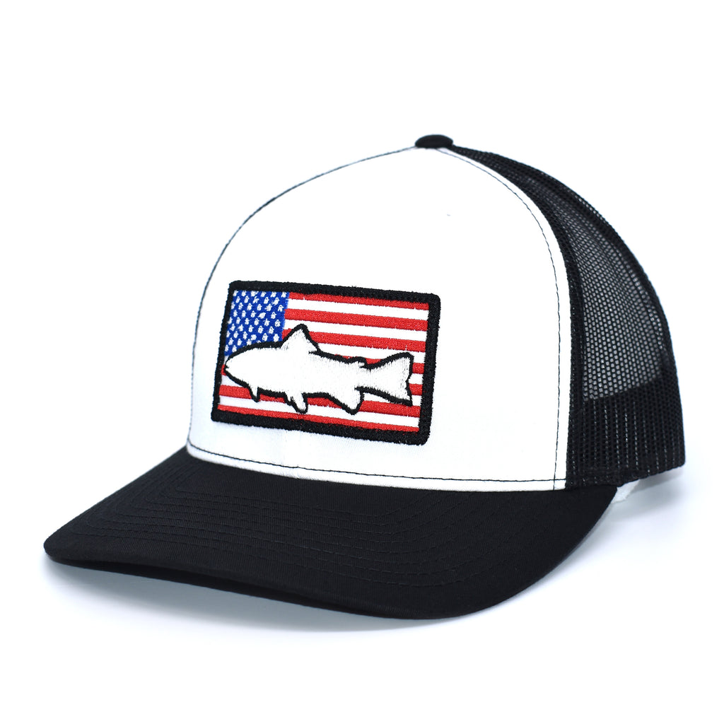 Trout of America  - White/Black - Bucks of America