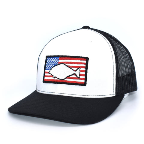 Image of Halibut of America  - White/Black - Bucks of America