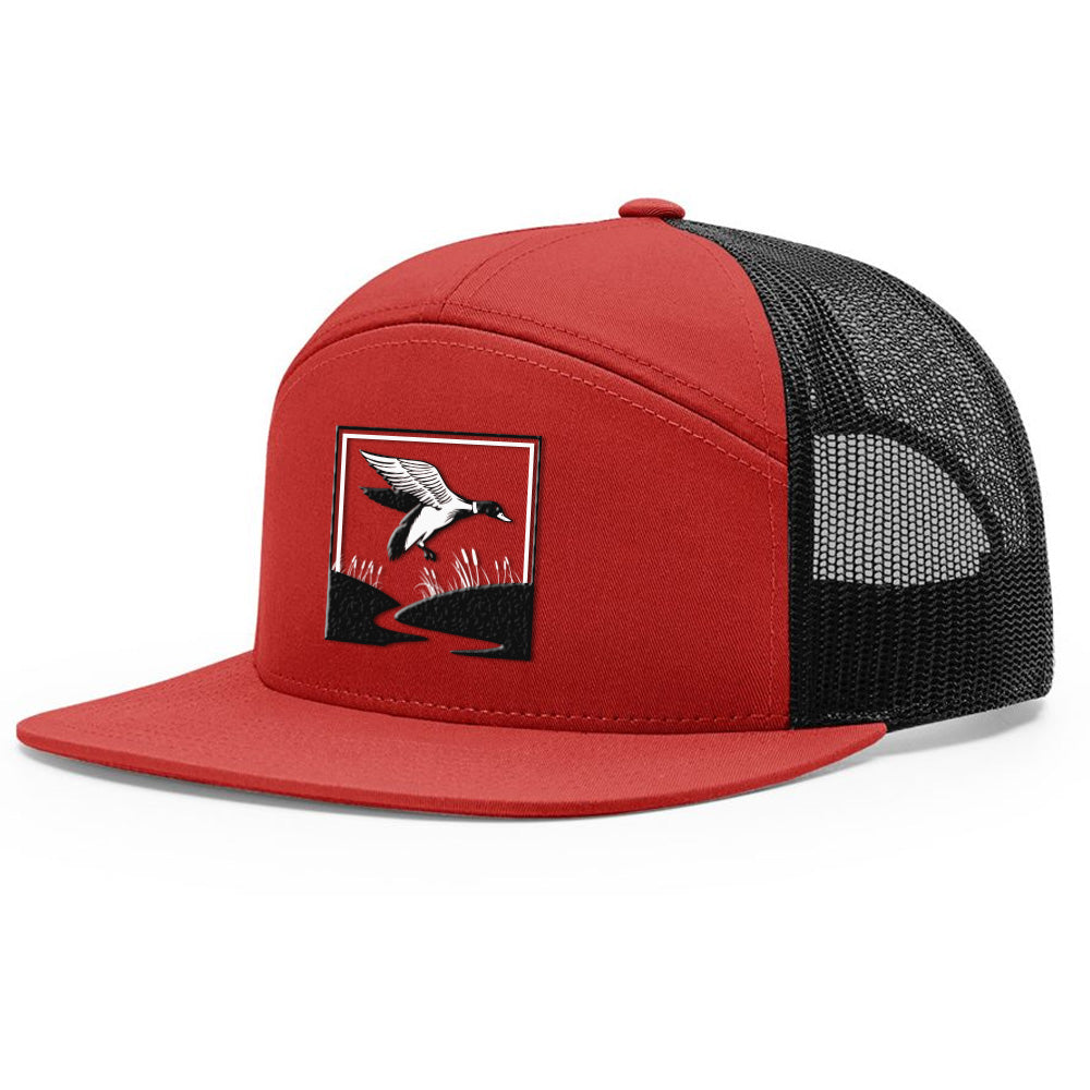 Duck Hunt Red & Black Hat