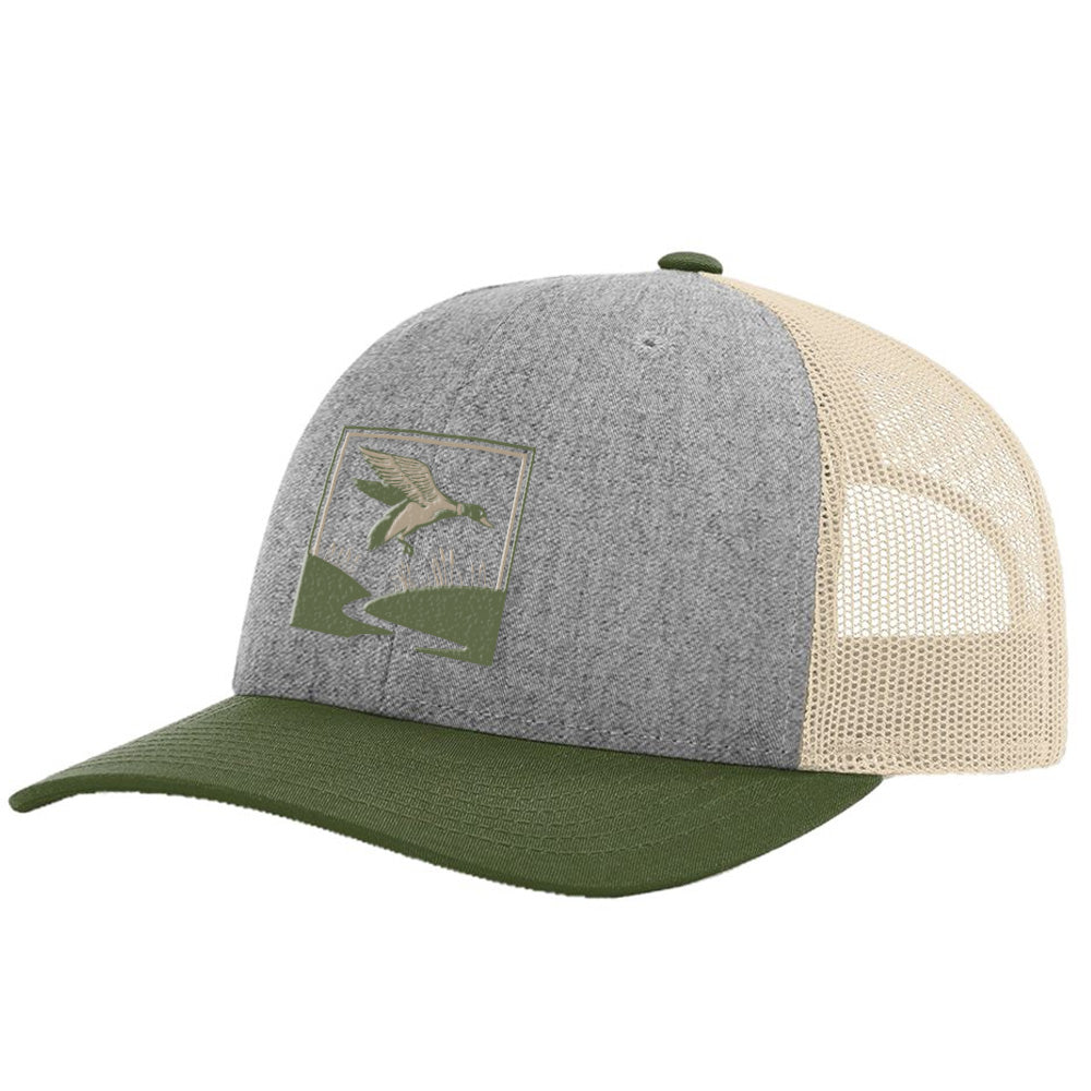 Duck Hunt Heather Grey / Birch / Army Hat