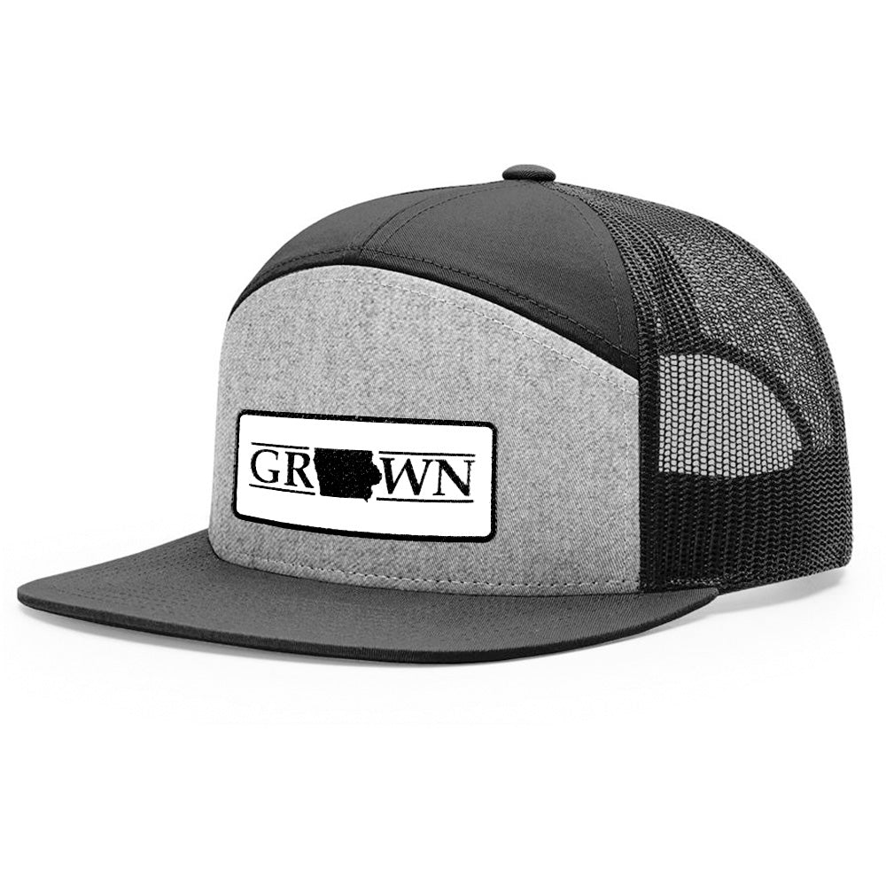 Snapback Iowa Grown Patch Hat - FREE 4in decal included