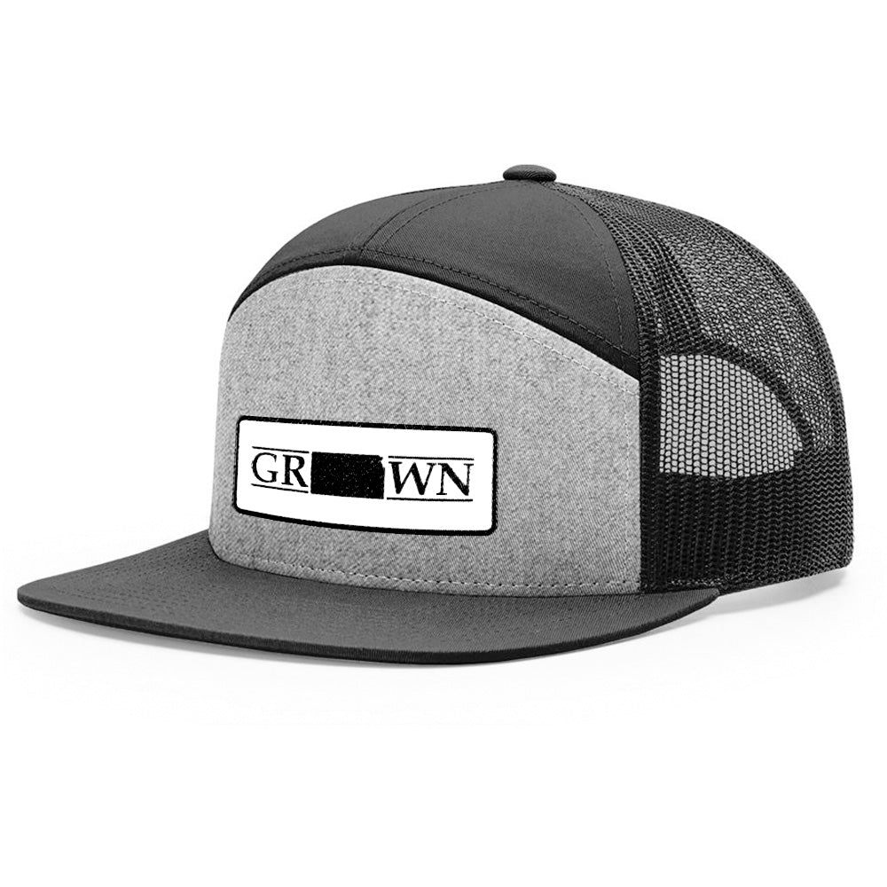 Snapback Kansas Grown Patch Hat - FREE 4in decal included
