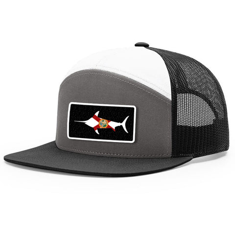 Image of Florida Flag Marlin Patch Hat
