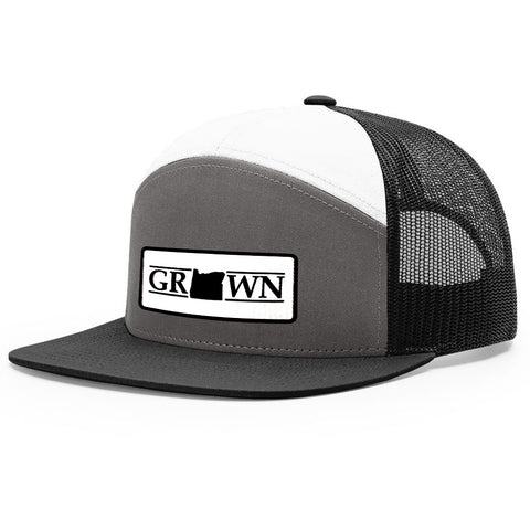 Snapback Oregon Grown Patch Hat - FREE 4in decal included - Bucks of America