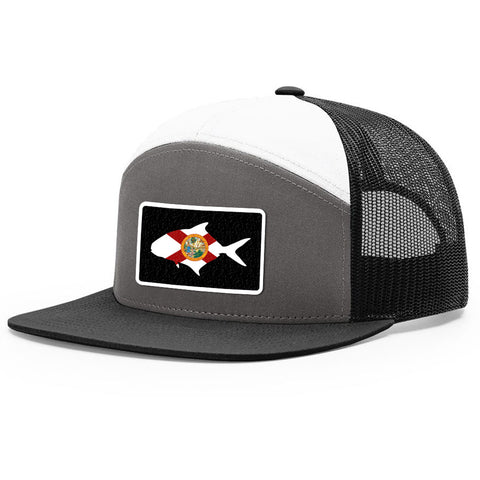 Image of Florida Flag Pompano Patch Hat - Bucks of America
