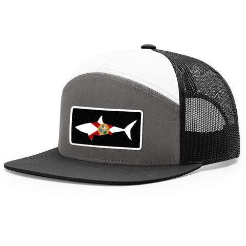 Image of Florida Flag Shark Patch Hat