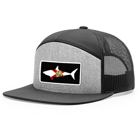 Image of Florida Flag Shark Patch Hat - Bucks of America