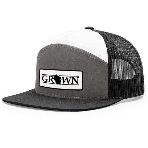 Snapback Wisconsin Grown Patch Hat - FREE 4in decal included