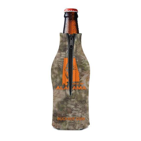 Bucks of Alabama Bottle Koozie Orange / Camo - Bucks of America