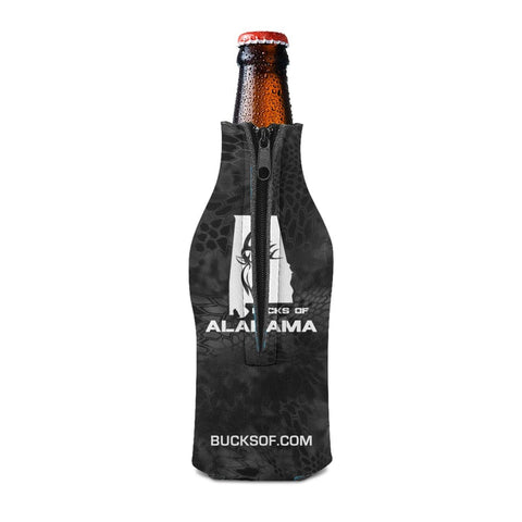 Bucks of Alabama Bottle Koozie White / Black - Bucks of America