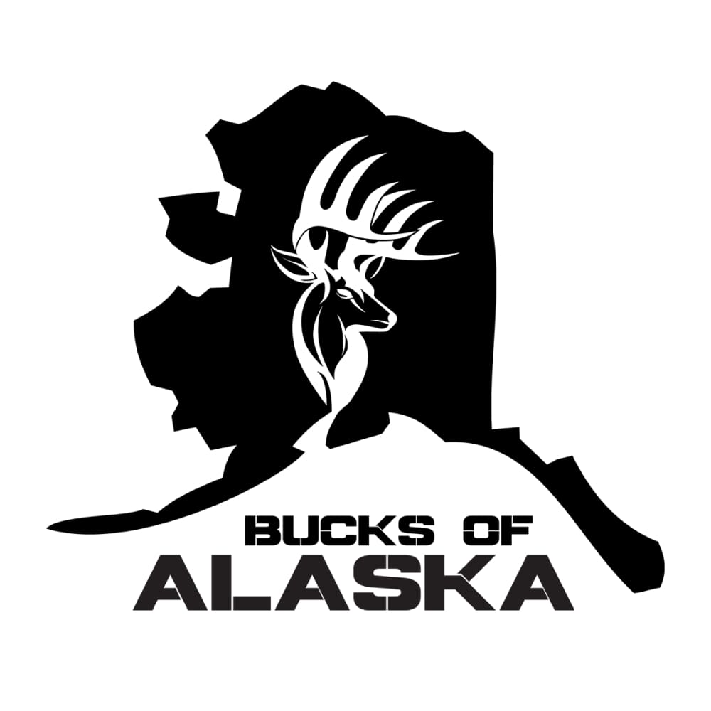 Bucks of Alaska State Decal - Black - Bucks of America