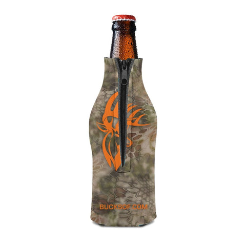 Bucks of America Bottle Koozie Orange / Camo - Bucks of America