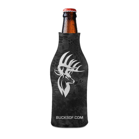 Image of Bucks of America Bottle Koozie White / Black - Bucks of America