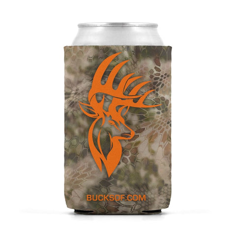 Image of Bucks of America Can Koozie Orange / Camo - Bucks of America