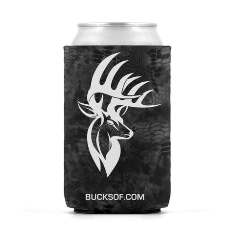 Image of Bucks of America Can Koozie White / Black - Bucks of America