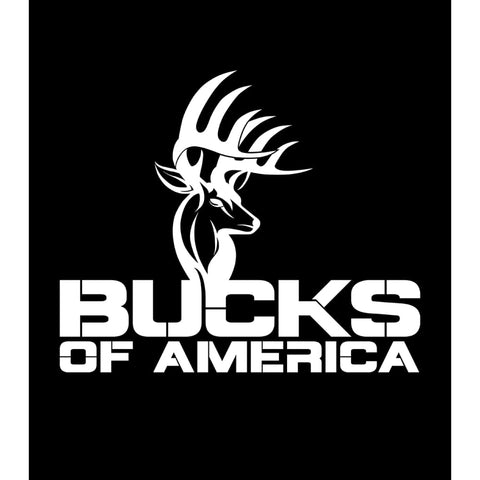 Bucks of America Full Logo Decal - White - Bucks of America