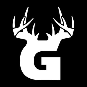Bucks of Georgia Antler Decal - White - Bucks of America