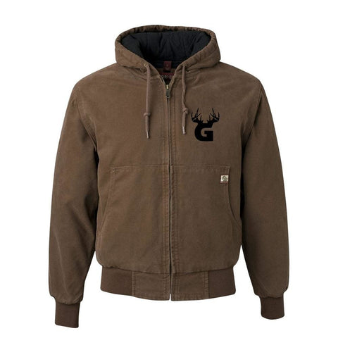 Image of Bucks of Georgia DriDuck Hooded Canvas Jacket - Bucks of America