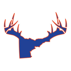 Bucks of Idaho Antler Decal - Blue / Orange - Bucks of America