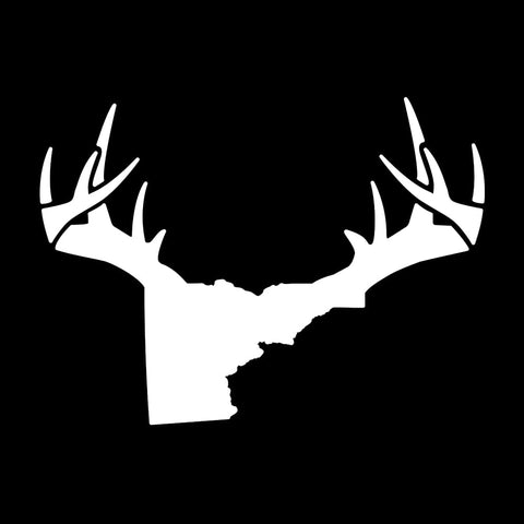 Bucks of Idaho Antler Decal - White - Bucks of America