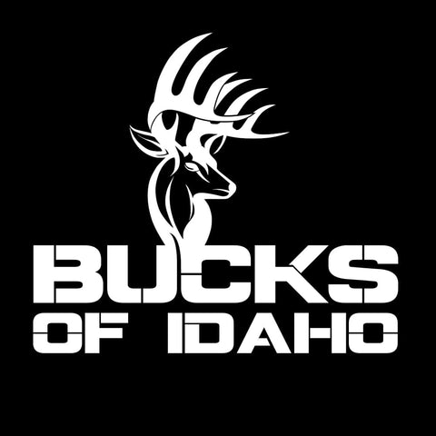 Bucks of Idaho Decal - White - Bucks of America