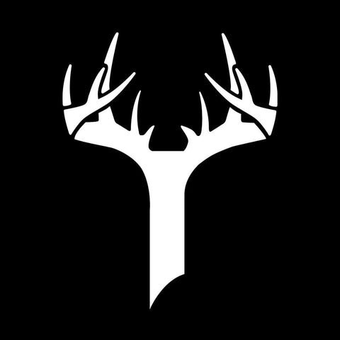 Bucks of Indiana Decal - White - Bucks of America