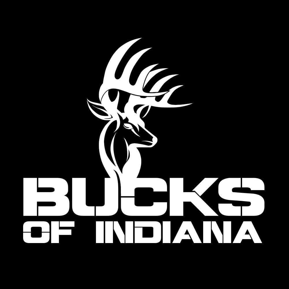 Bucks of Indiana Full Logo Decal - White - Bucks of America