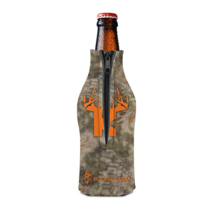 Bucks of Kansas Bottle Koozie Orange / Camo
