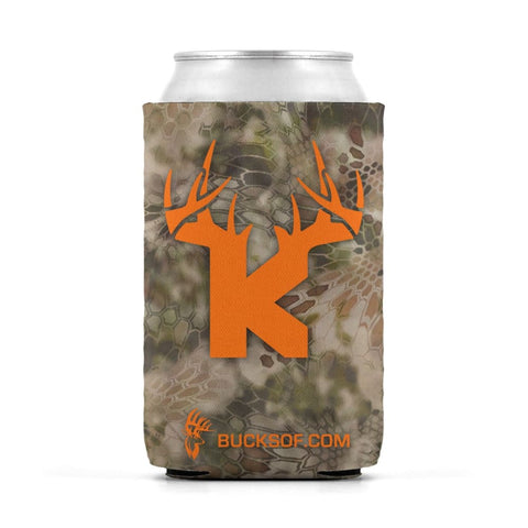 Bucks of Kansas Can Koozie Orange / Camo - Bucks of America